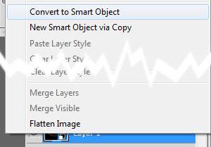 Conversión en Smart Object de una capa