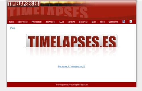 Nueva WEB. Arranca Timelapses.es 2.0