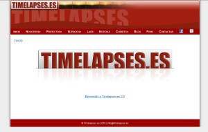 """Sneak Peek"" de la nueva WEB de Timelapses.es"