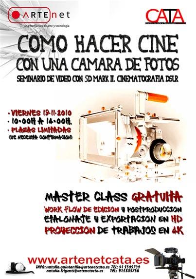 Proyección en la «Master Class» ARTENET-CATA