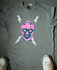 PINK MEXICAN MASK (t-shirt) - Jamie Mc Leod