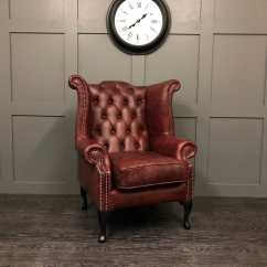 Oxblood Leather Wing Chair Recliner Throw Covers The Kent Vintage Timeless Sofas Back