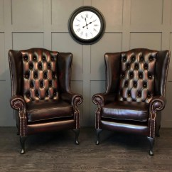 Oxblood Leather Wing Chair Ophthalmic Exam Chairs The Oakley Pair Antique Timeless Sofas Of