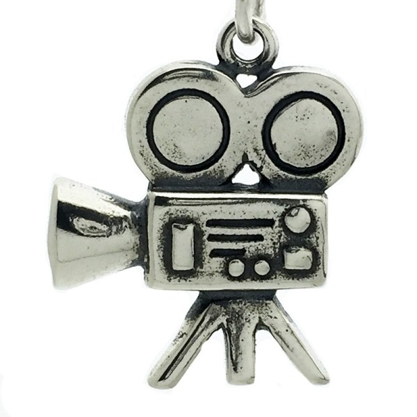 Time Movie Camera - Projector Sterling Silver Charms