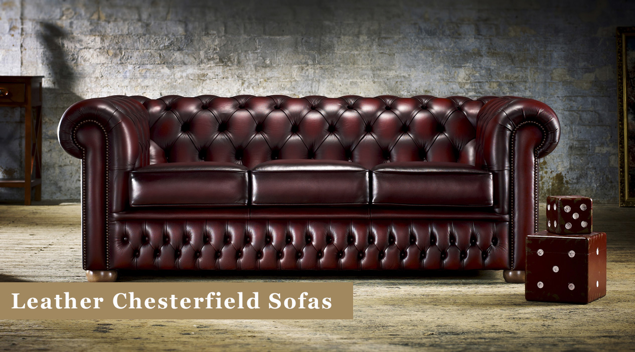 leather chesterfield sofas suites in