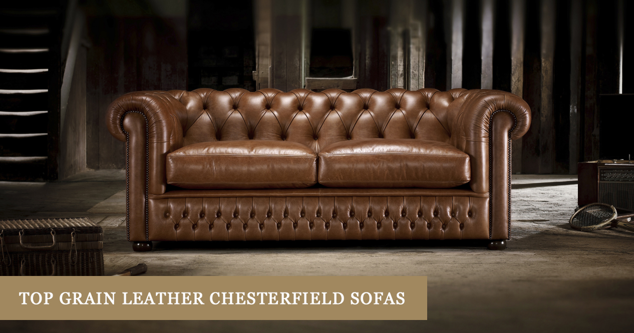 top grain leather chesterfield sofas