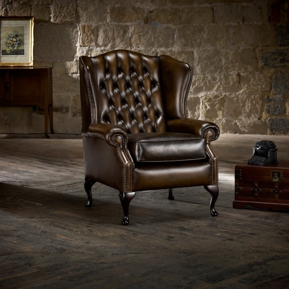 leather wing chairs uk butterfly pedicure chair classic - from timeless chesterfields