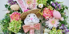 Raz Easter Bunny head wreath