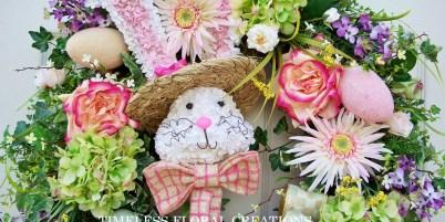 Raz Easter Bunny head wreath