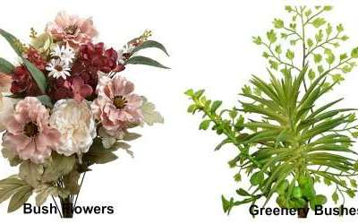 4 Basic Types of Silk Flowers