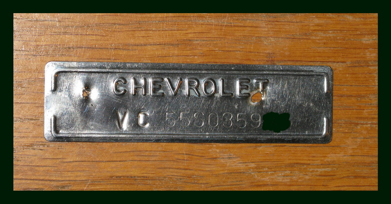 1955 Chevy Frame Vin Number Location
