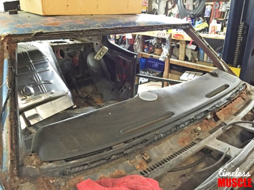Pulling out the windshields also reveals any areas of rust that the car might be hiding within the A- and C-pillars.