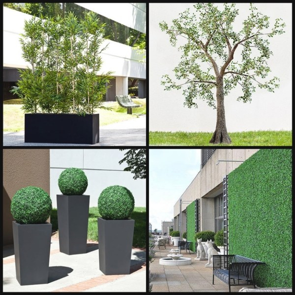 of outdoor artificial plants