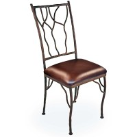 Pictured is our rustic Camelot Dining Side Chair, hand ...