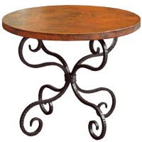 Alexander Wrought Iron End Table with 30in Round Top ...