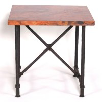 "Pictured here is the Burlington End Table with 24"" x 24 ..."