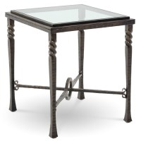 Pictured is the Omega Square End Table with glass table ...