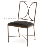 Pictured here is the Doughton Wrought Iron Dining Chair ...