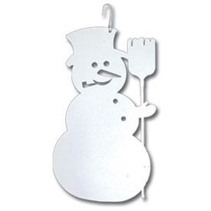 Wrought Iron Snowman SilhouetteWHITE