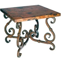 French Square End Table with Copper Top | Timeless Wrought ...