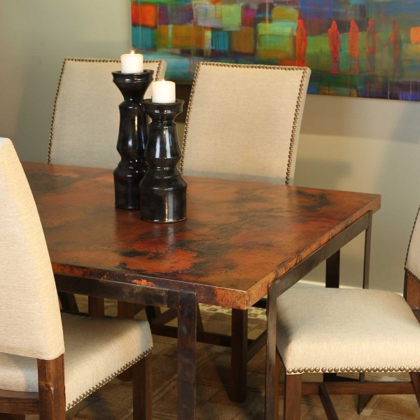 Copper Dining Room Table