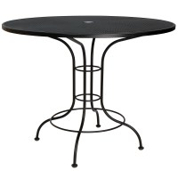 """Pictured is the Mesh Top 48"""" Round Counter Height Bistro ..."""
