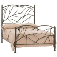 Wrought Iron Rustic Pine Headboard by Stone County Ironworks