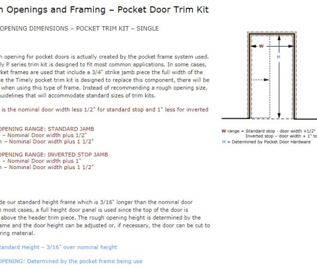 Download Pocket Door Trim Kit Single Rough Opening Image