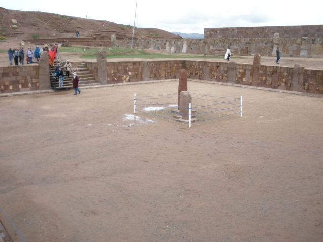 Sunken temple of Tiwanaku