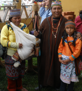 One of our Peruvian shamans and his family