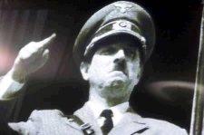Rik Mayall as Hitler ... Ein Volk, ein Reich, ein Euro.