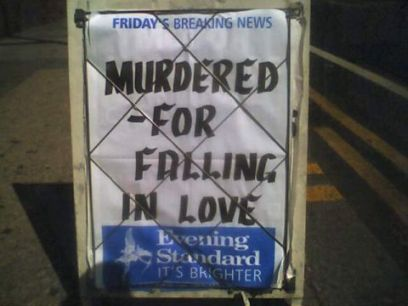 evening standard headline poster board