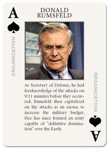 image of Donald Rumsfeld's playing card