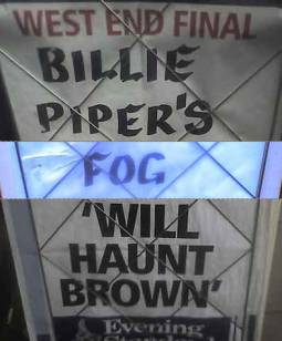 Billie Piper's Fog 'Will Haunt Brown'
