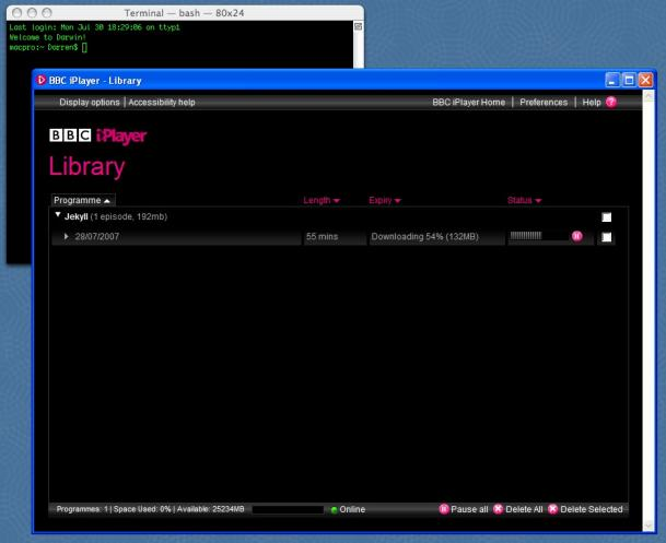 iPlayer downloading on a Mac