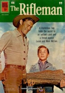 Dell's The Rifleman -- A mysterious bag holds the secret to an outlaw's past and a threat against Lucas and Mark McCain.