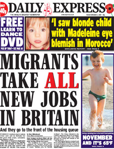 Daily Express: Migrants Take All New Jobs In Britain