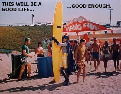 surfing batman