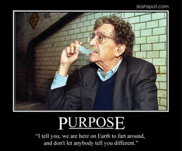 Kurt Vonnegut Motivational Poster