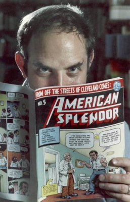 Harvey Pekar Reading American Splendor #5