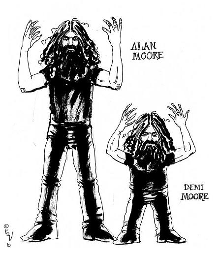 Alan Moore and Demi Moore
