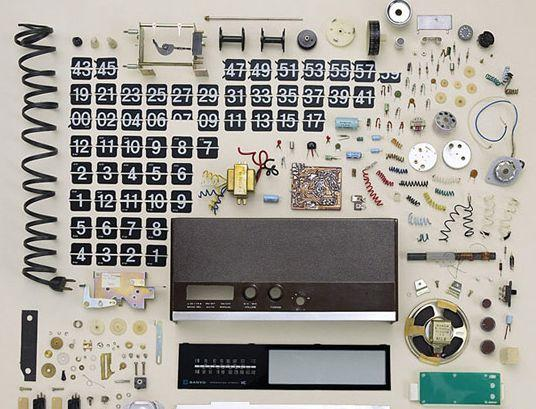 Flip Down Clock Disassembled