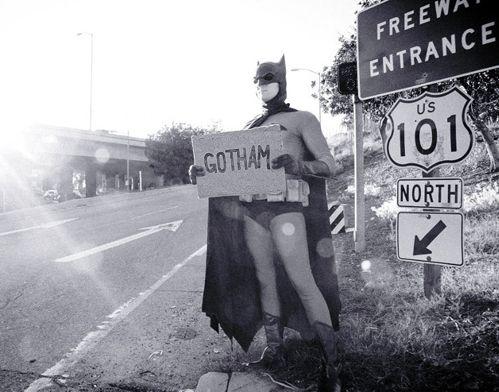 Batman Hitchhiking