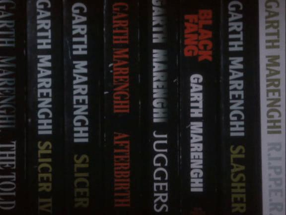 Garth Marenghi Bookshelf