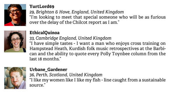 Highlights From The Guardian's Soulmates Dating Site