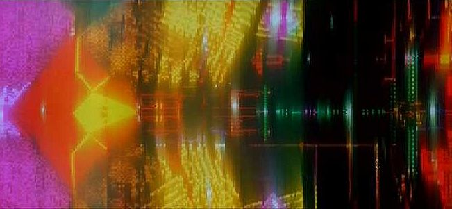 Artwork for 2001's Slit-Screen Sequences