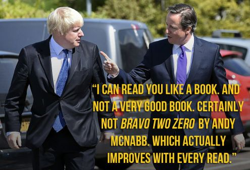 Bojo, Cameron and Alan Partridge
