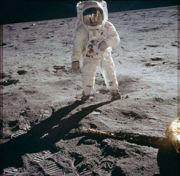Buzz Aldrin on the Moon...
