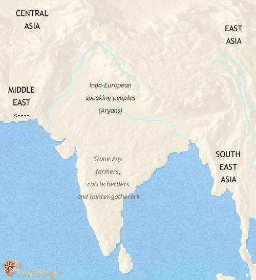 Map of India duiring the Vedic period | History of Haridwar , Uttarakhand