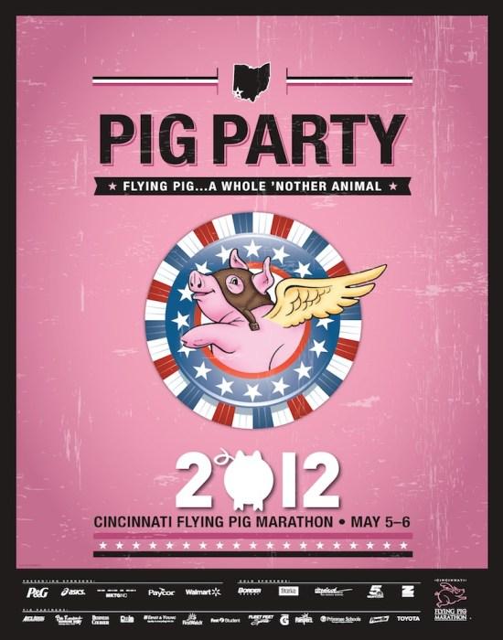 Flying Pig Marathon Poster Version 3